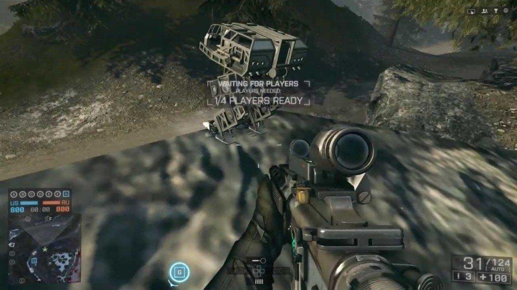 Mech v DLC pre BF4, po interakcii vydáva zvuk mechu z BF2142
