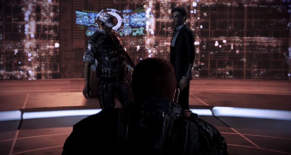 Anderson a The Illusive Man vo finálnej konfrontácii.