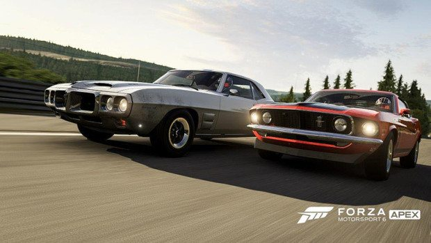 """A screenshot from """"Forza Motorsport 6: Apex,"""" which is coming out for Windows 10. Credit: Microsoft"""