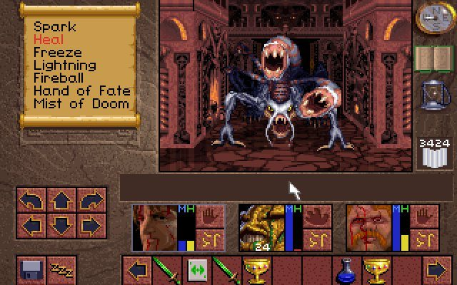 12732-lands-of-lore-the-throne-of-chaos-dos-screenshot-battle-against